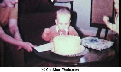 jongen, slagen, jarig, candle-1965, uit