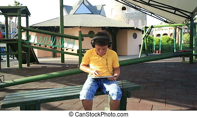 jongen, tablet, digitale , gebruik