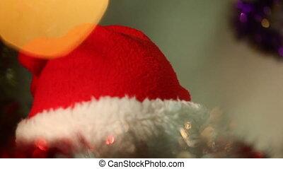 jongen, weinig; niet zo(veel), geklede, claus, 3, kerstman