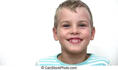 jongen, wit gezicht, kind