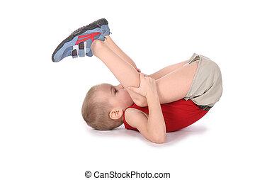 jongen, yoga