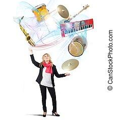 jongleur, muziek