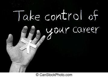 jouw, carrière, nemen, controle