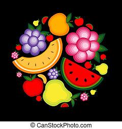 jouw, fruit, achtergrond, ontwerp, energie