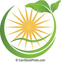 jouw, gezondheid, logo, natuur, bedrijf