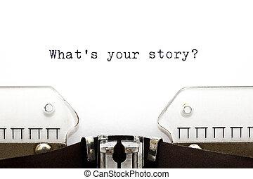 jouw, wat, verhaal, typemachine