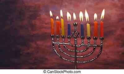 kaarsjes, verlichting, hanukkah, viering