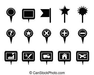 kaart, black , navigatie, tekenen, navigatiesysteem