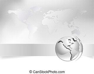 kaart, concept, zakelijk, globe, -, wereld