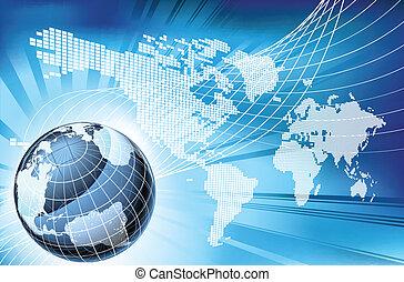 kaart, globe, woord, achtergrond, aarde