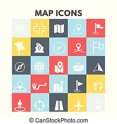 kaart, iconen
