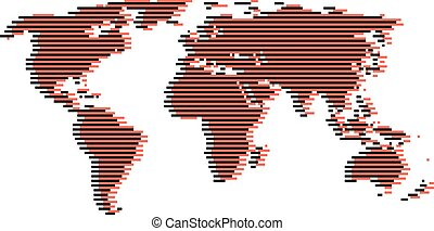 kaart, lawaai, zoals, black , digitale wereld, lijn, rood