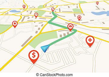 kaart, navigatie