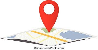 kaart, navigatie, wijzer
