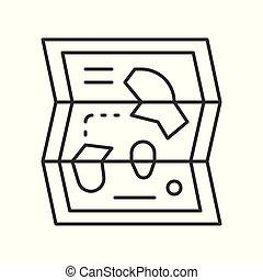 kaart, stijl, park, verwant, vector, pictogram, lijn, vermaak