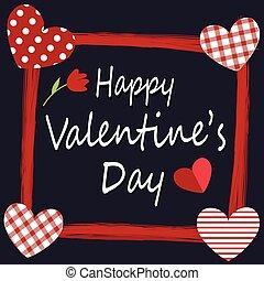 kaart, vrolijke , valentine, ontwerp, dag, groet