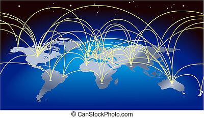 kaartachtergrond, wereldhandel
