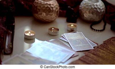 kaarten, fortuin, ritueel, tarot, het vertellen, of