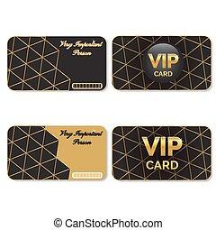 kaarten, vip, black , goud