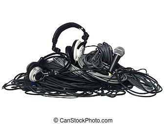 kabels, muziek uitrustingsstuk