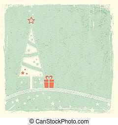 kado, boompje, kerstmis, sterretjes
