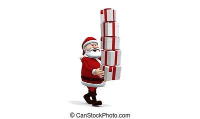 kadootjes, het in evenwicht brengen, kerstman