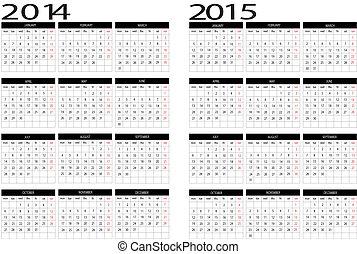 kalender, 2014-2015
