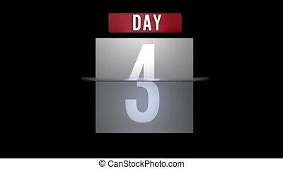 kalender, rond het draaien, dag, maand