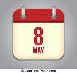 kalender, vector, app, pictogram
