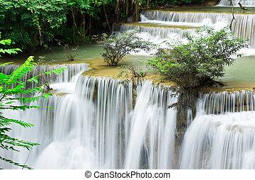kamin, hua, niveau, water, mae, 4, herfst, thailand, kanchanaburi
