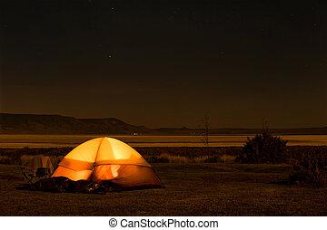 kamperen, nacht