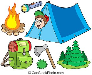 kamperen, verzameling