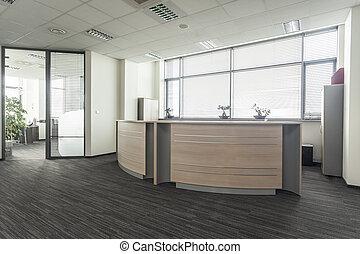 kantoor, ontvangst