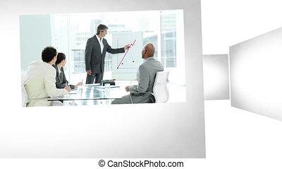 kantoor, toestanden, 3d animatie