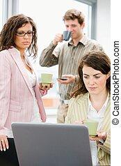 kantoor, -, zakenleven