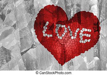 kapot, vorm., rood hart