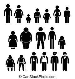 karakter, staafje cijfer, mensen