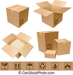 karton, boxes.