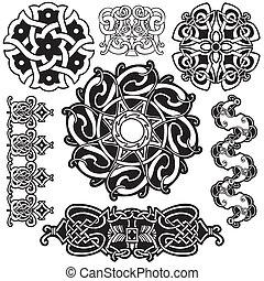 keltisch, vector, art-collection.