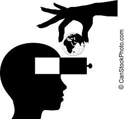 kennis, verstand, student, leren, wereld, opleiding