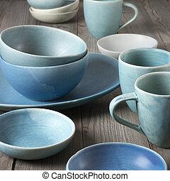 keramisch, dishware, met de hand gemaakt