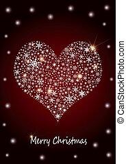 "kerstmis, achtergrond, ""heart"""