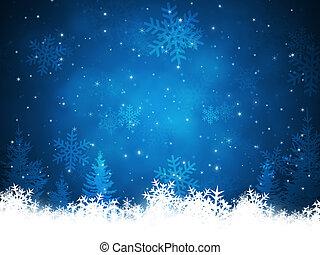 kerstmis, achtergrond, sneeuw