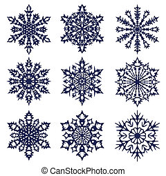 kerstmis, achtergrond., snowflakes.