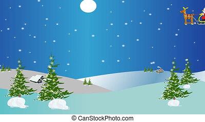 kerstmis, animatie