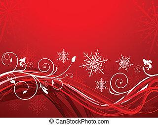 kerstmis, artistiek, abstract
