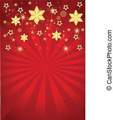 kerstmis, de strepen van sterren
