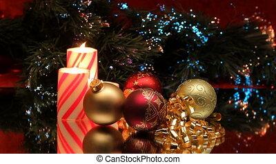kerstmis, drie, kaarsjes