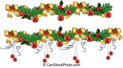 kerstmis, guirlande