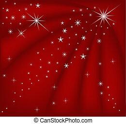 kerstmis, rood, magisch
